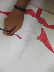 fuchsia painting