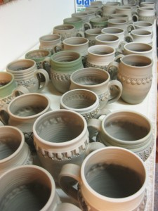 Gary Jackson-table of mugs 1