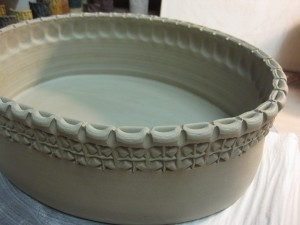 oval casserole before handle