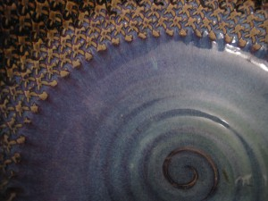 blue bowl detail