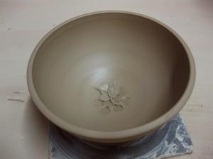 bowl demo - tooled flower 1