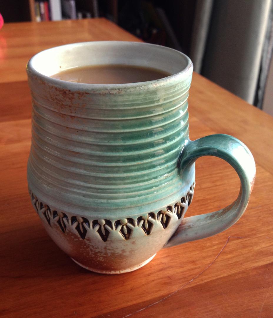 Gary jackson fire when ready pottery for Mug handle ideas