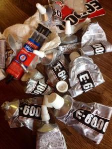 used tubes of E-6000