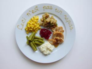 Rene Magritte THANKSGIVING DINNER