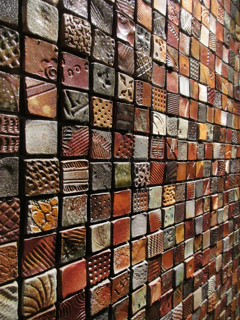 Gary jackson fire when ready pottery heres a quick glimpse at the textured tile wall in my condo just under 3000 tiles on the wall each one handmade textured soda fired dailygadgetfo Image collections